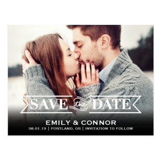 Save the Date | Simply Clear Postcard