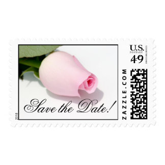 Save the Date Single Rose Postage