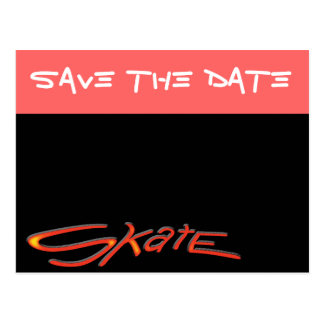 Save The Date Skate Party Postcard