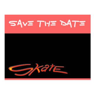 Save The Date Skate Postcard