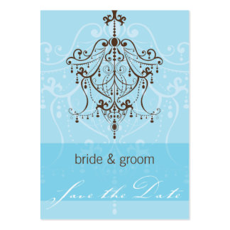 SAVE THE DATE SMALL :: chandelier Large Business Cards (Pack Of 100)