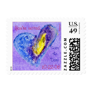Save the Date Small Postage Heart
