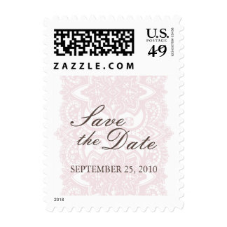 Save The Date Small Postage-Vintage Blossom Stamp