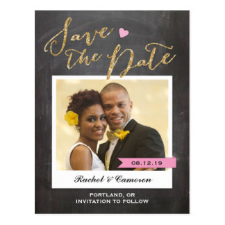 Save the Date | Snapshot Banner Postcard