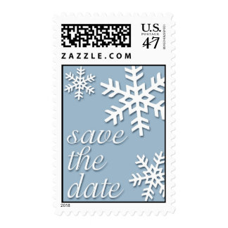 Save The Date * Snowflakes Postage