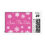 Save The Date Snowflakes Postage