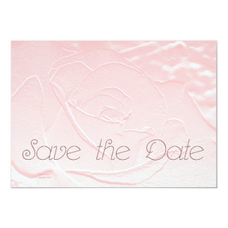 Save the Date Soft Pink Rose Card