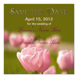 SAVE THE DATE - Soft Tulipes (Insert Photo) Card