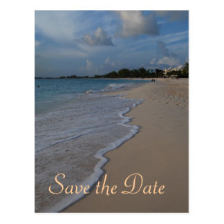 Save the Date Special Beach Wedding Postcard