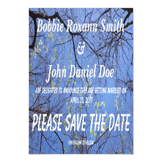 Save the date Spring Trees Magnetic Card