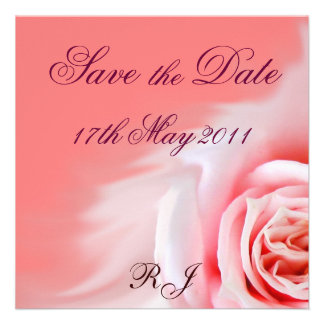 Save the Date square card Personalized Announcement