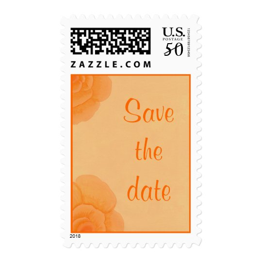 Save the date Stamps, Faded Orange Roses Postage