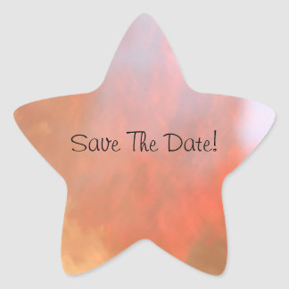Save The Date! Star Sticker