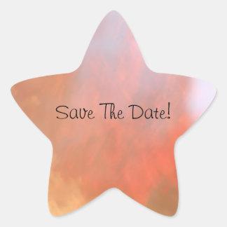 Save The Date! Star Sticker