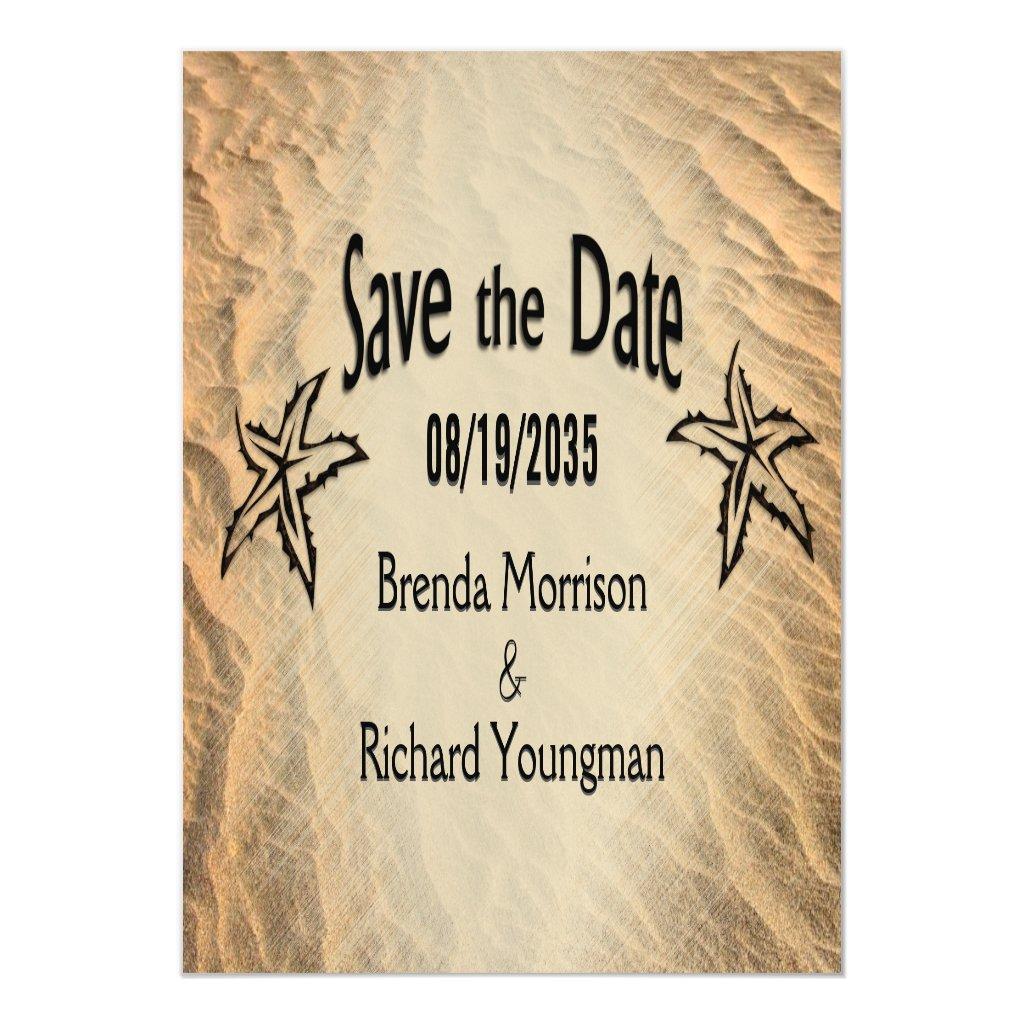 Save the Date Starfish Beach Magnetic Invitation