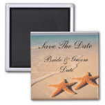 Save the Date Starfish Beach Wedding Magnets Fridge Magnet