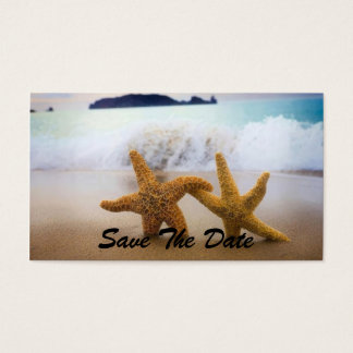 Save The Date STARFISH Business Card Template