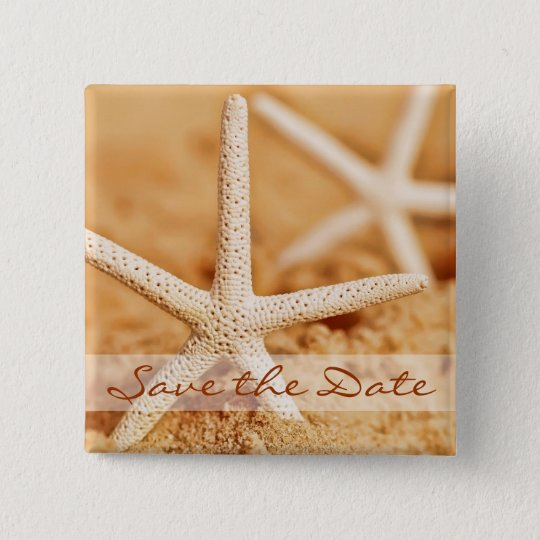 Save the Date Starfish Button
