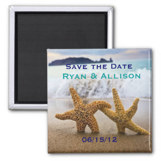 Save the Date Starfish Couple Magnet