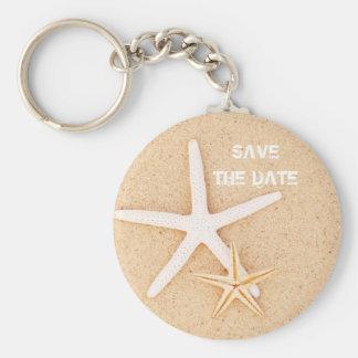 Save the Date Starfish Keychain