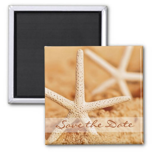 Save the Date Starfish Magnet