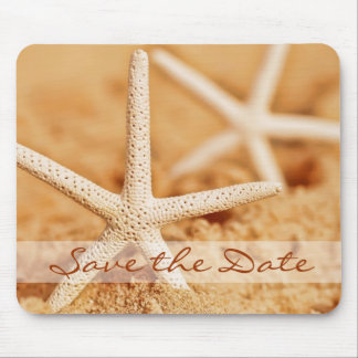 Save the Date Starfish Mousepad