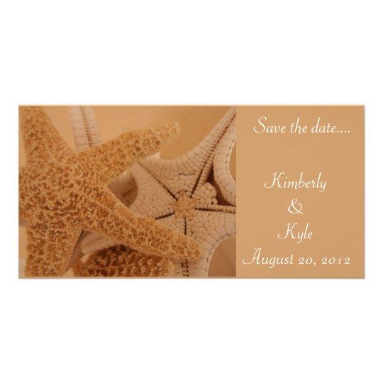 Save the date starfish photo card