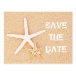 Save the Date Starfish Postcard