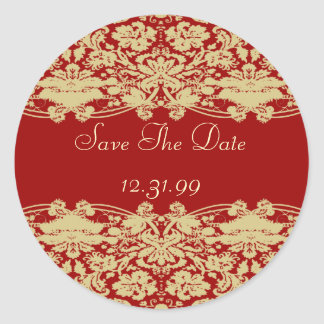 Save The Date Sticker-Personalizable Text