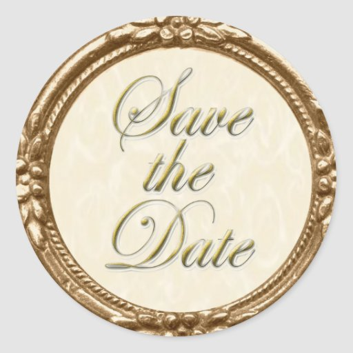 Save the Date Sticker/Seal