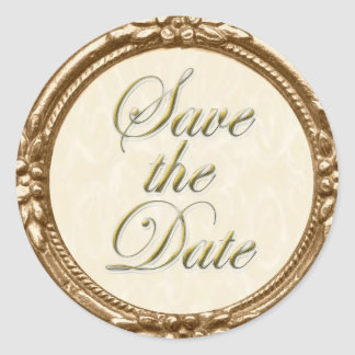 Save the Date Sticker/Seal Classic Round Sticker
