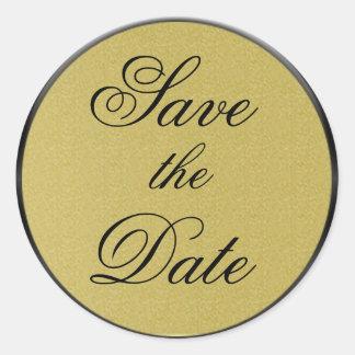 Save the Date Sticker/Seal Classic Round Sticker