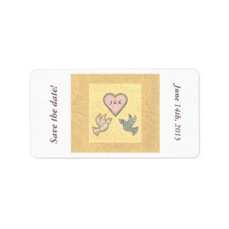 Save the Date stickers Faith Hope Love quilt art