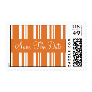 Save The Date Striped Wedding Postage