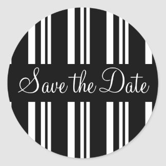 Save the Date Stripes Envelope Sticker Seal