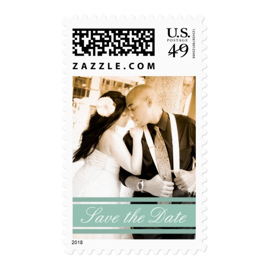 SAVE THE DATE STRIPES POSTAGE