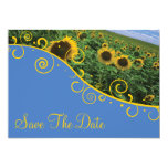 "Save The Date - Sunflowers 5"" X 7"" Invitation Card"