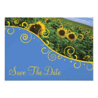 Save The Date - Sunflowers Card