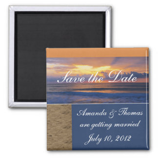 Save the Date Sunrise Wedding Announcement  Magnet