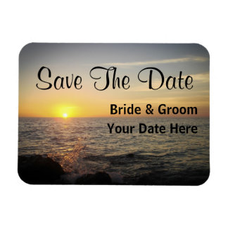 Save The Date Sunset Magnet