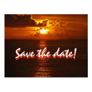Save the date sunset postcard