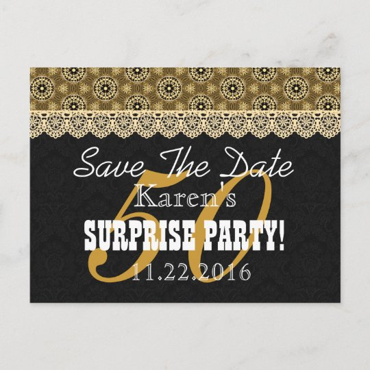 save the date surprise 50th birthday v002b gold announcement