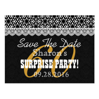 Save the Date SURPRISE 60th Birthday V003C Postcard