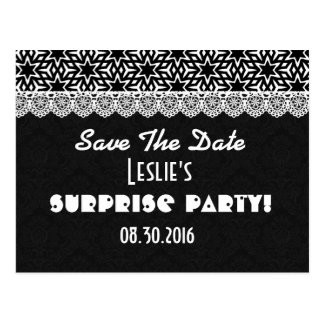 Save the Date SURPRISE Any Year Birthday V003D1 Postcard