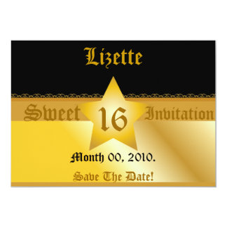 Save The Date Sweet Sixteen Invitation!-Cust. Card