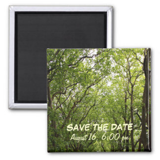 Save The Date Sycamores 2 Inch Square Magnet