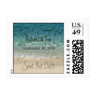 Save the Date Tahiti Beach Postage 2 Small
