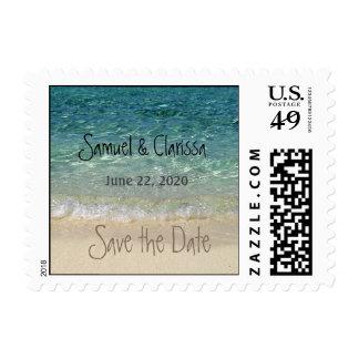 Save the Date Tahiti Beach Postage 3 Small