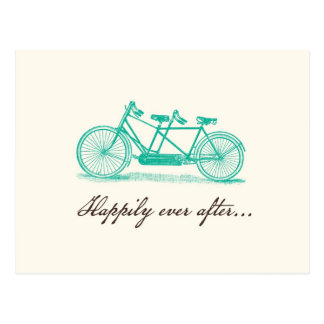Save the Date-Tandem Bike Postcard