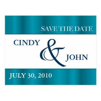 SAVE THE DATE - Teal Postcard